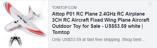 Attop P01 RC Plane 2.4GHz RC Airplane 3CH RC Aircraft Fixed Wing Plane Aircraft Outdoor Toy Coupon: HYATTRC Price: $ 48.59