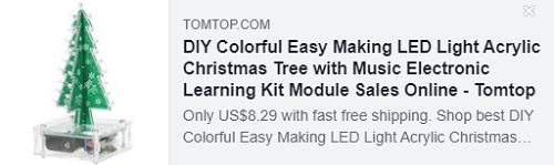 DIY Colorful Easy Making LED Light Acrylic Christmas Tree with Music Electronic Learning Kit Module    Price: $ 8.29