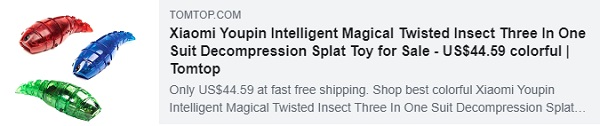 52% OFF for Xiaomi Youpin Intelligent Magical Twisted Insect Three In One Suit Decompression Splat